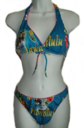 RAJMAN Honolulu-Hawaii Print 2 pc BIKINI - Med