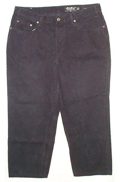 EDDIE BAUER Classic Fit Black Jeans - Mens 37 x 27