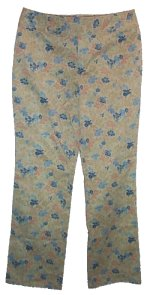 SIGRED OLSEN Low Waist Boot Cut Patterned Pants -10