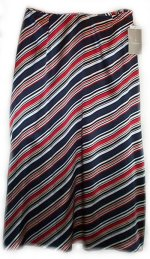LIZ CLAIBORNE COLLECTION 100% Silk Lined Long Skirt - Misses 12