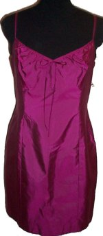 LAUNDRY by SHELLI SEGAL Silk Spaghetti Strap Dress - 12
