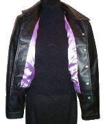 RAMPAGE Satin Lined Pleather Jean Jacket - Large