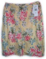 JONES NEW YORK JNY 100% Linen Floral Summer Skirt - Misses 12 - BRAND NEW!