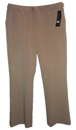 JONES NEW YORK Tan Stretch Dress Pants - 6
