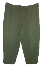CHARTER CLUB Green Lined SILK Capri Pants - Size 24W