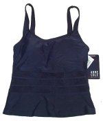 ANNE COLE Dark Blue Tankini TOP - Size 6