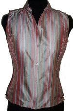 JONES NEW YORK SILK Fitted Sleeveless Blouse/Shirt -Petite Small- BRAND NEW