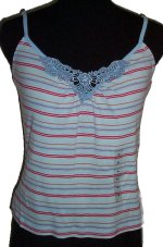 GUESS Jeans Lace V-Front Adjustable Straps Camisole Top -Misses/Jrs XL- NEW