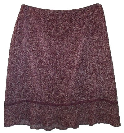 AXCESS - LIZ CLAIBORNE Feminine Lined Ruffled Skirt - Misses 12
