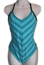 NAUTICA Blue Striped 1 Pc Swimsuit -6,10,16