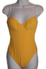 MODA INTERNATIONAL Yellow 1 Pc Swimsuit - 8B