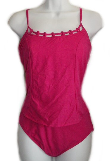 CAROL WIOR Beautifully Detailed 2 Piece Bathing Suit Tankini - Misses 6 - NEW!