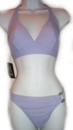 INC INTERNATIONAL CONCEPTS Purple Halter Bikini - Small