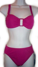 BODY ID Deep Fuchsia 2 Piece Bikini Swimsuit Bathing Suit - Misses 8 - BRAND NEW