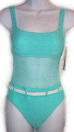LA BLANCA by ROD BEATTIE Aqua 1 Pc Swimsuit - Size 6