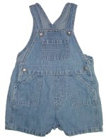 BABY GAP Cotton & Linen Cargo Styled Denim Shortalls - Boys 6-12 months