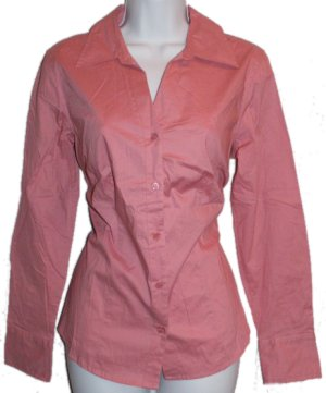 STYLE & CO. Apricot Fitted Button Front Stretch Blouse - Size 12