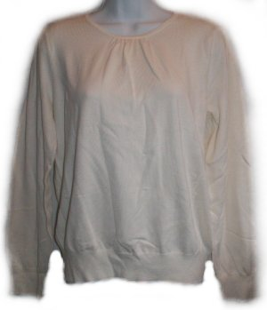 LIZ CLAIBORNE Fine Knit Sweater - Large