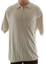 CLAIBORNE LUXE Fine Knit Button Front Collared Polo Shirt Top - Mens Large - BRAND NEW