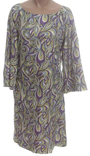STUDIO M 100% Silk Retro Print Lined Dress - Misses XS - NEW