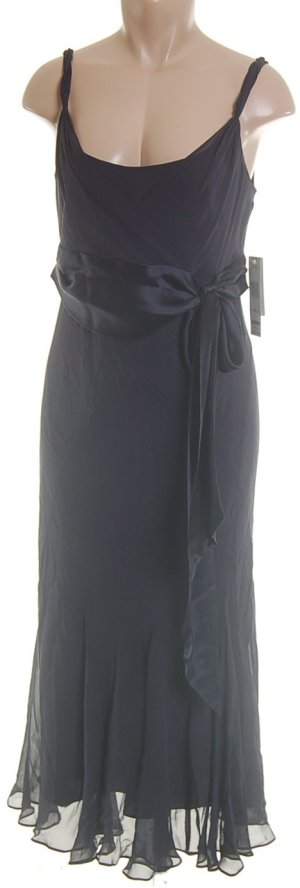 JONES NEW YORK 100% Silk Blue Long Dress - 8