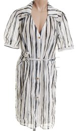 INTRIQUE Lightweight Retro Shirt Dress Slip - Size 12