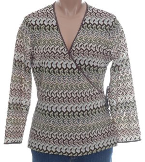 JONES NEW YORK Crossover Front Textured Knit Top - Size M