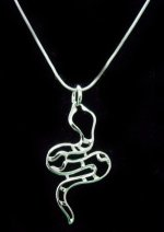 Sterling Silver 925 Snake Pendant & Snake Chain Necklace