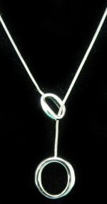 Sterling Silver Double Oval Lariat-Style Necklace