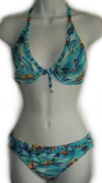 CHRISTINA 2 Piece Underwire Bra Bikini Swimsuit - Misses/Jrs Medium - BRAND NEW!