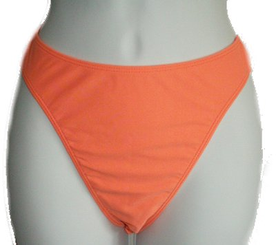 BODYNITS Light Orange Bikini Swimsuit Separate - BIKINI BOTTOM - Large