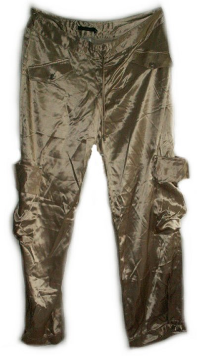 GUESS COLLECTION Funky Satin Cargo Dressy Harem-Like Pants - Misses 12