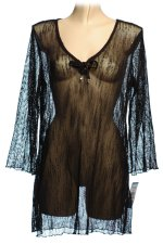 DOTTI Black Mesh Swimsuit Cover Up - Small - BRAND NEW