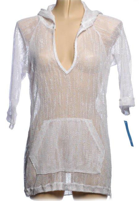 DOTTI White Mesh Swimsuit Cover Up
