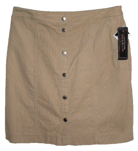 JONES NEW YORK Tan Stretch Fine Wale Corduroy Skirt - Size 10