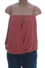 MODA INTERNATIONAL Clay Open Front Knit Top - L