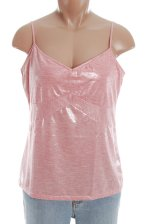 MODA INTERNATIONAL Metallic Pink Cami Top - Large