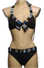 ANNE COLE LOCKER 2 Piece Halter Bikini Swimsuit - Misses X-Large - BRAND NEW