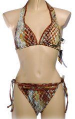BE CREATIVE 2 Piece Sexy Animal Print String Bikini Swimsuit - Misses 10 - BRAND NEW