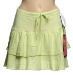 PURE PARADISE Lime Green Pointelle Ruffled Swimsuit Separates - SWIM SKIRT Cover UP - Misses S - BRAND NEW