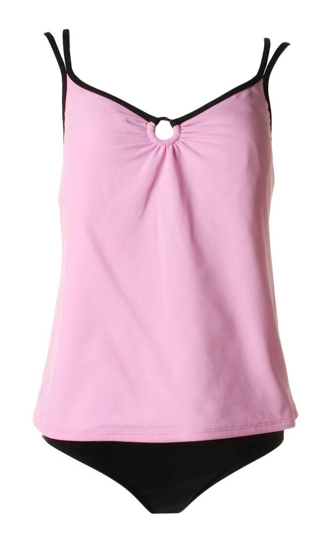 MAINSTREAM Pink Black Tankini - Size 14
