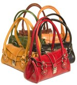 """Corsica"" Italian Tucano Leather Tote Handbag - Leather"