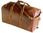 """Venezia Grande"" Italian Tuscano Leather Duffle Bag - Vecchio Brown"