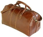 """Venezia"" Italian Tuscano Leather Duffle Bag - Vecchio Brown"