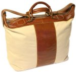 Piana Canvas & Leather Tote Travel Bag