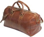 Milano Italian Leather Travel Duffle Bag - Vecchio Brown