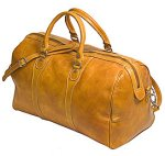 Milano Italian Leather Travel Duffle Bag - Olive
