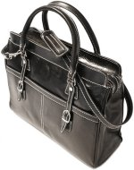 Casiana Mini Italian Leather Tote - Black
