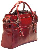 Casiana Mini Italian Leather Tote - Red