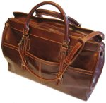 Casiana Italian Leather Tote Travel Bag - Tan